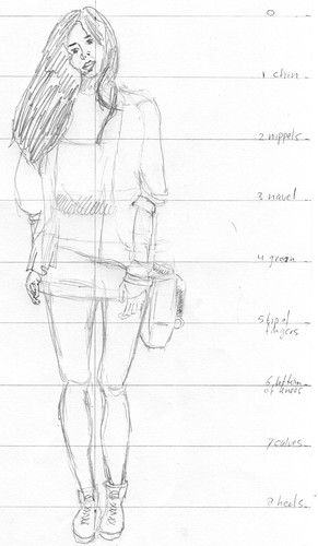 Clothed figure sketch 3 2011/06/06