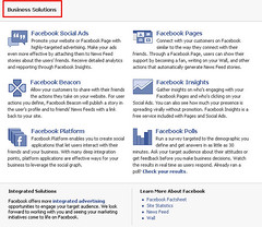 Facebook Business Solutions