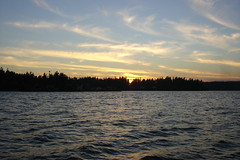 Sun setting over Port Madison