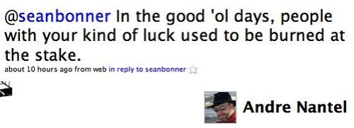 Twitter / Andre Nantel: @seanbonner In the good 'ol...