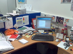desk, interrupted.