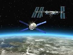 Jules Verne nadert het ISS....