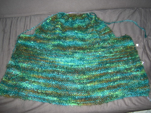 Garter Stitch Jacket, Back Completed