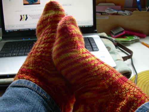 Diagonal Rib socks