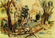 Oskar Kokoschka. Le Front d'Isonzo, 1916.