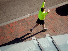 Running by Coolidge Corner