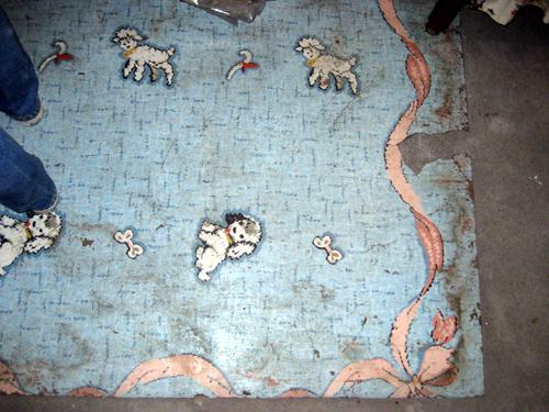 Sheep & puppy linoleum