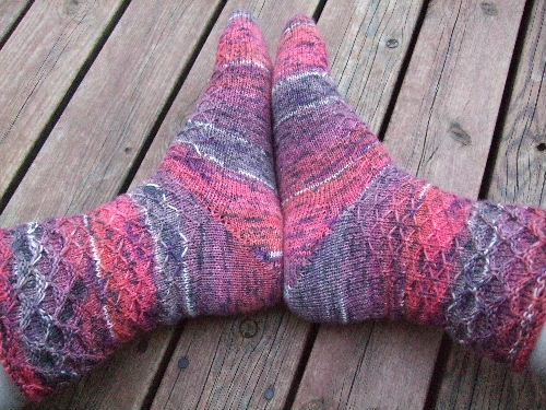 Dyvekes Dimpled Diamonds Socks