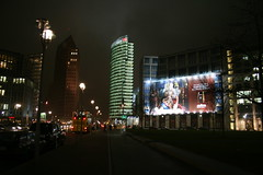 Potsdamer Platz by night - photo by Jean-Etienne Poirrier