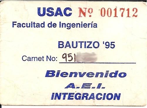 contraseña de butizo 1995