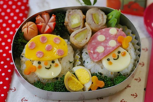 Mushrooms bento