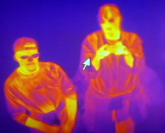 Mother and Son with Thermal Imaging