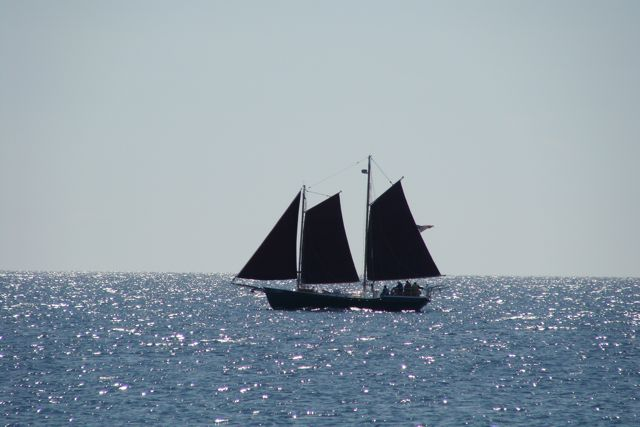 Black Schooner on Lake Superior