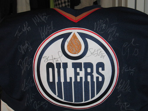 Signed Oiler Jersey