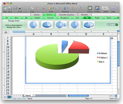 Microsoft Office 2008 for Mac: 3D Charts