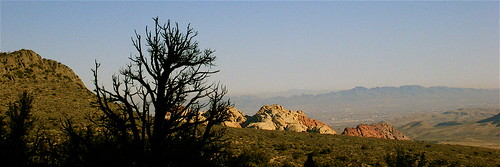 View of Red Rock Canyon & Las Vegas