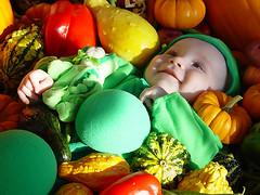 vegetable garden baby