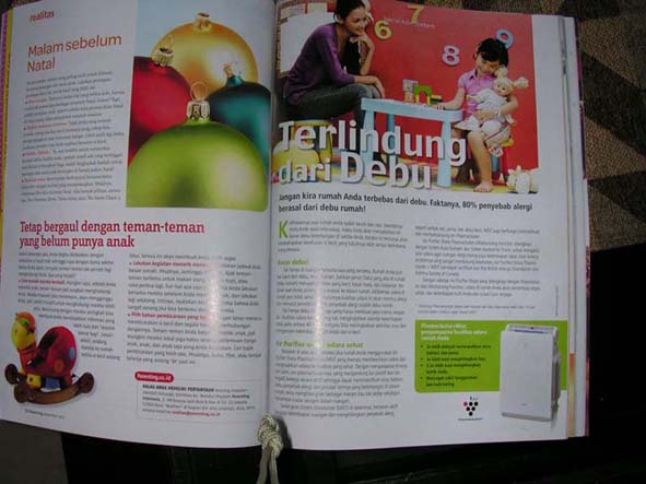 Alya - Advertorial Sharp, Majalah Parenting Des 2007