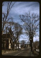 Street scene, possibly in Brockton, Mass. (LOC)