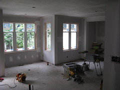 17 July - Drywall downstairs