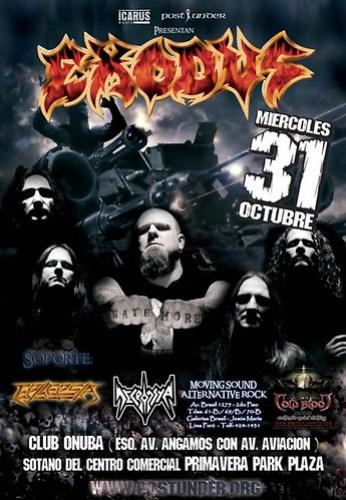 Poster Exodus concierto en Lima