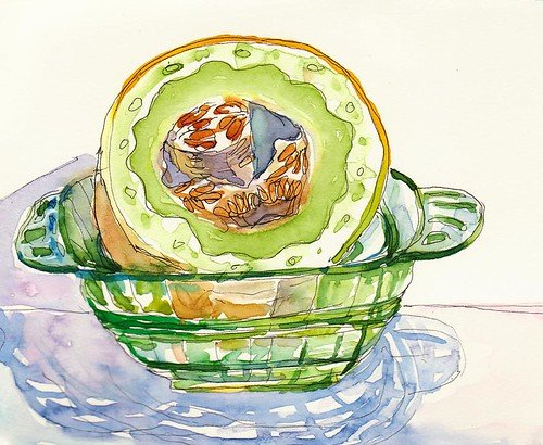 Honeydew in bowl