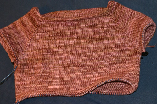 Boatneck Bluebell in Malabrigo Brown Berries