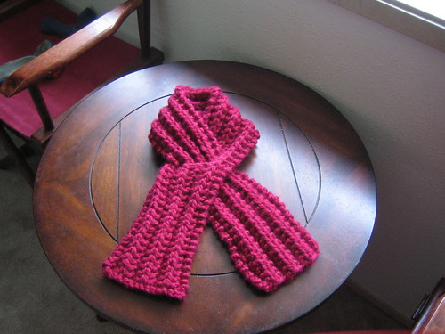 Quick No-Purl Keyhole Scarf