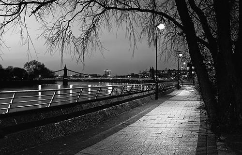 Hammersmith Bridge and Thames Path