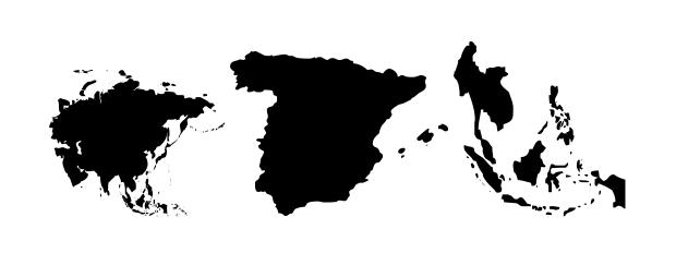 GeoBats, tipografía geográfica
