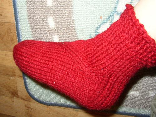 dragon sock on foot