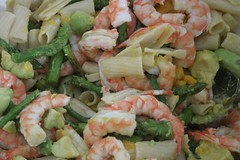 christmas lunch - prawn salad