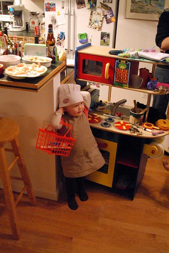 Poppy in the kid's kitchen