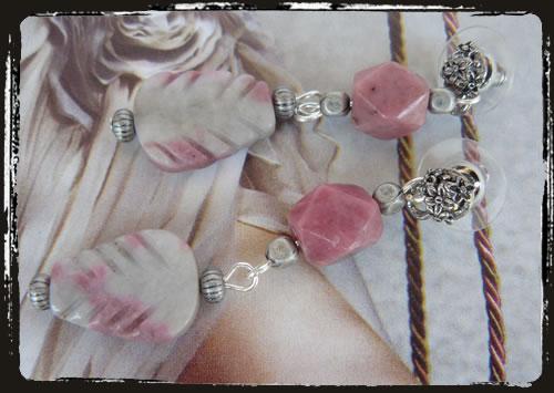 Orecchini rosa - Pink earrings MEHGPRO