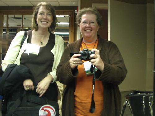 Helene and Iris meet in the Ladies Room