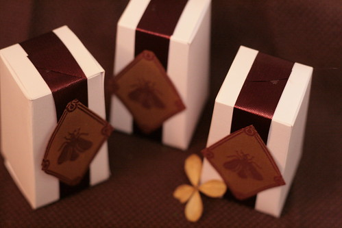 Tea boxes wrapped up