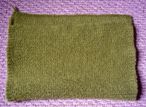 """Knitted felted """"fabric"""""""