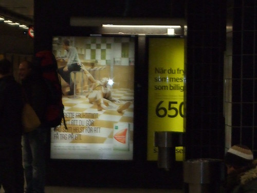 Ads in the Stockholm Metro