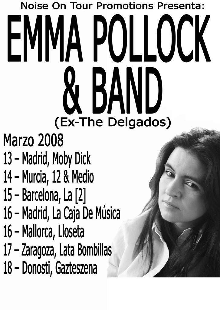 EMMA POLLOCK presenta su debut en solitario por la piel de toro