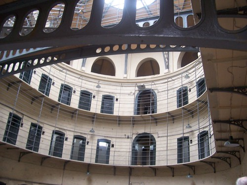 Kilmainham Gaol. When prisoners look up to light they become better persons.