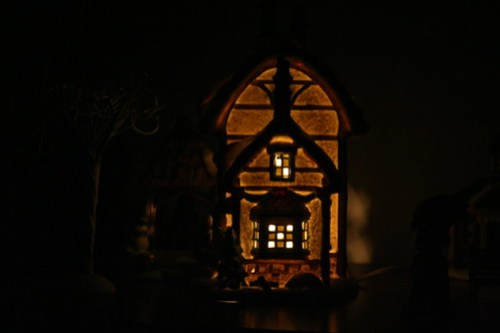 Village Building at Night