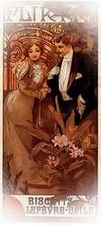 Flirt 1899. Alphonse Mucha.