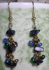 Sparkle Stone Chain Earrings