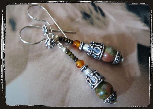 Orecchini paesaggio - Brown earrings AMHDDPB