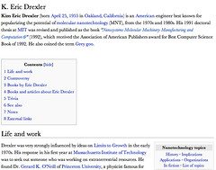 Eric Drexler on Wikipedia - before