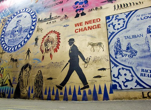 We Need Change - Cans Festival, Waterloo by chrisjohnbeckett, on Flickr
