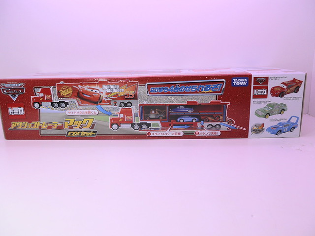tomica disney cars mack,king,chick hicks,tongue mcqueen combo (4)