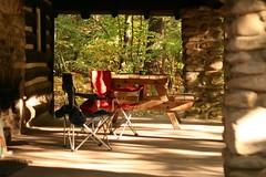 Porch of Super Secret Getaway Cabin