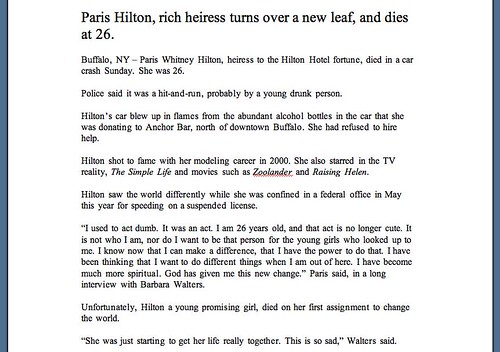 2007-11-28 paris hilton obituary