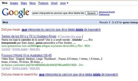 Resultado busqueda Google lalala lalalala